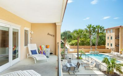 Photo for Stay with Lucky Savannah: 3BR condo steps from the beach w/ pool access!