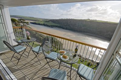 From Balcony up the Gannel Estuary.