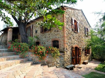 Photo for tipical Tuscan stonehouse with private pool close to Siena