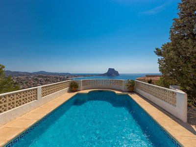 Photo for ELFI, villa in the hills of Calp, with private pool and sea views