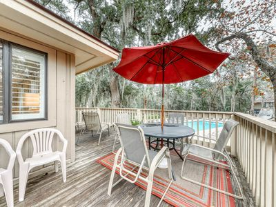Photo for Great condo w/ deck, entertainment, shared pool & nearby beach access!