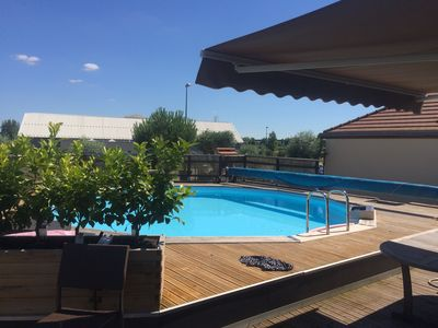 Photo for South Ambiance Holiday with Heated Pool in Troyes at 1H30 from Paris!