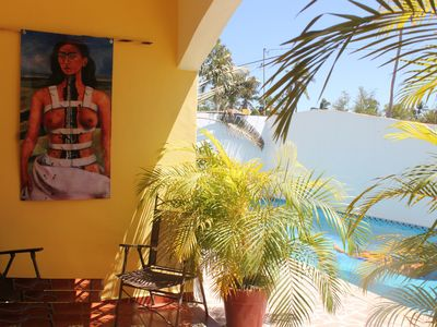 Photo for Gecko -Beautiful Condo with Private Terraza, Large Pool, A/C & Parking