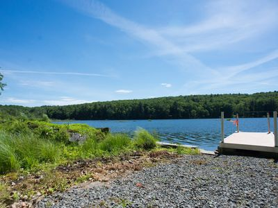 Photo for Secluded lakefront house near Lake Wallenpaupack!