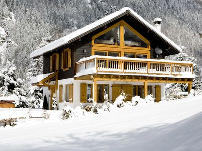 Photo for LUXURY CHALET IN CHAMONIX-5 BED, 6 BATH, SAUNA, HOT TUB, BEST VIEWS,  WIFI, PRKG