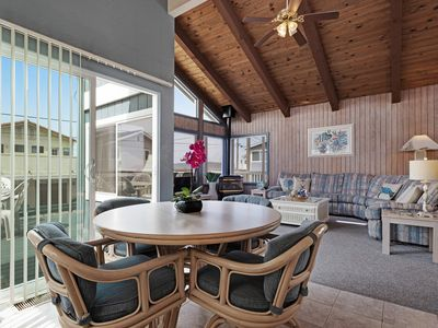 Photo for Spacious beach home w/ enclosed yard, & deck with ocean view - dogs welcome