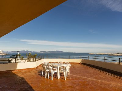 Photo for Apartment with sea view, large terrace and private parking