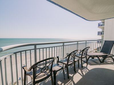Photo for Direct Oceanfront 4BR/3BA, 9th floor, Large balcony, 1800 SF, 3 Parking Spots
