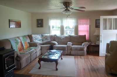Very large and comfy living room, with a pull out bed