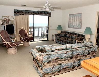 Photo for SHORT STAYS AVAILABLE.  Spacious 4 Bedroom 4 Bath Condo with an Oceanfront deck that overlooks the Outdoor Pool, WIFI and a grilling Area