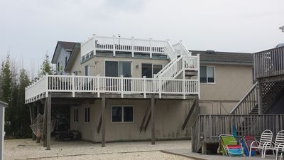 back side view of 2nd and 3rd story decks