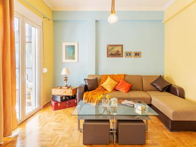 Photo for Stylish apt in Athens • 2 mins from Viktoria sq.