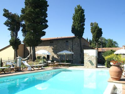 Photo for Attractive apartment in farmhouse with pool in beautiful surroundings