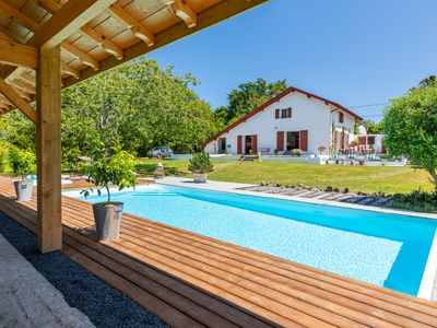 Photo for Beautiful Basque house with heated pool and garden, in Arcangues !