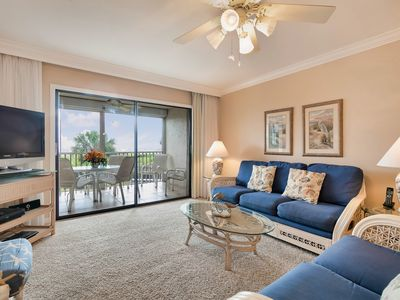 Photo for Gulf Beach 103, Well-Equipped 2 Bedroom Gulf Front Condo