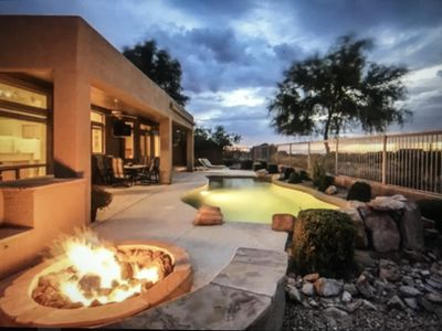 Photo for Resort home On golf course w/Solar heated pool < out door tv + City & mtn  views