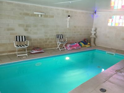Photo for 700 meters from the beach, heated indoor and outdoor pools
