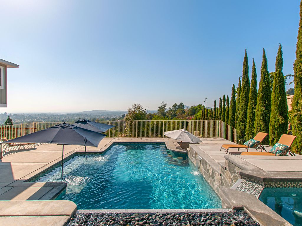 private resort vacation in san diego salt water pool hot tub and views - Saltwater Hot Tub