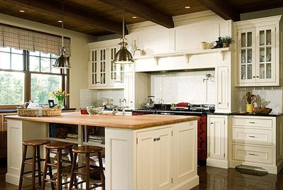 Custom gourmet kitchen with AGA Range from England
