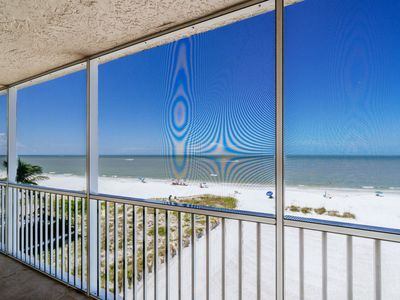 Photo for Beachfront Screened Lanai! North Island Condo with Pool! Walk to Times Square