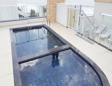 Photo for Apartment with sea view! Balcony, barbecue and pool!