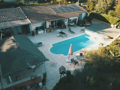 Photo for Villa 4 ch.  with 3 bathrooms and heated pool