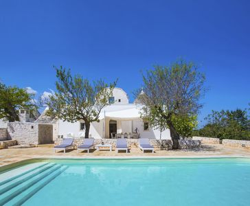 Photo for Luxury villa with private pool surrounded by olive trees