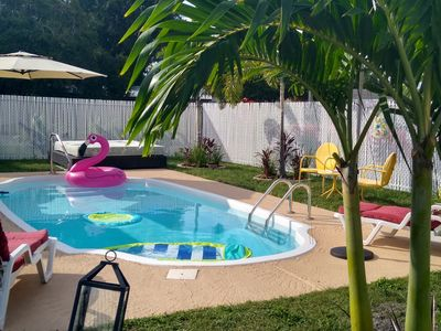 Photo for Tampa Getaway Vacation Home with inground pool.