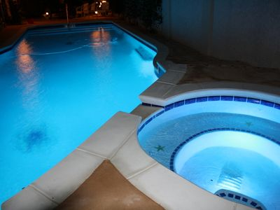 Special lighting for a romantic night swim or enjoy a relaxing spa