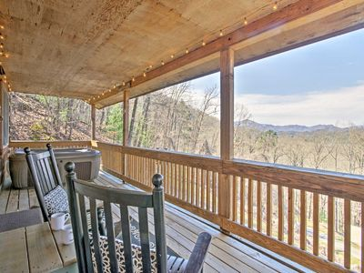 Photo for Cabin w/ Mtn Views - 3.6 Mi to Appalachian Trail!