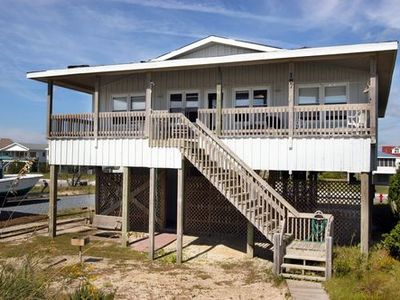 Photo for Oceanfront Beach Cottage Close to Bridge!