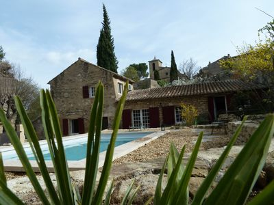Photo for Character stone Bastidon with pool in the Luberon