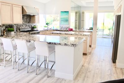 Extra large kitchen-newly updated with beautiful Mountain View's everywhere.
