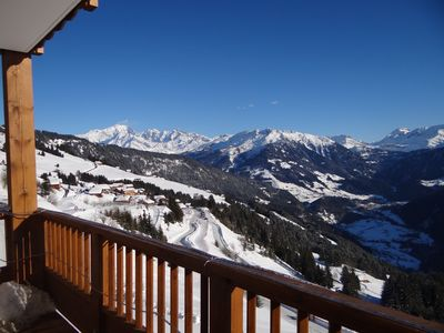 Photo for 4 * Luxury apartment in Les Saisies Bisanne-6 / 8p, 66 m2, skis