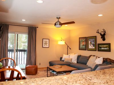 Photo for Luxury Corner Unit, Granite Counters, Wifi, W/D in Unit, Walk to Town & Trails
