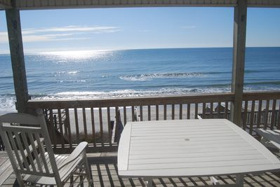 The beach and ocean at your footstep! 2 covered decks, beach chairs & umbrella