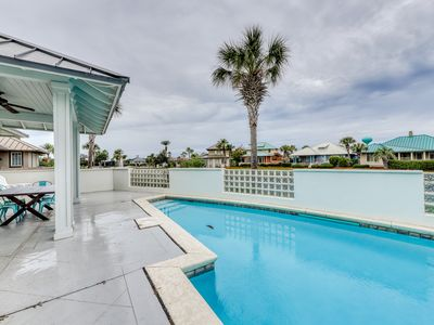 Photo for Luxurious two-story beach cottage w/private pool & shared tennis and basketball