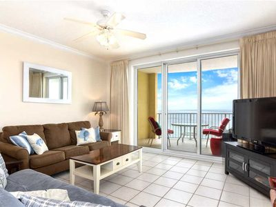 Photo for Twin Palms 1504, 2 Bedrooms, Beach Front, Pool Access, Spa, Sleeps 8
