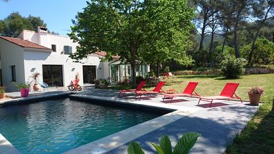 Photo for Gemenos quiet and south, charming house available from August 18 to 25