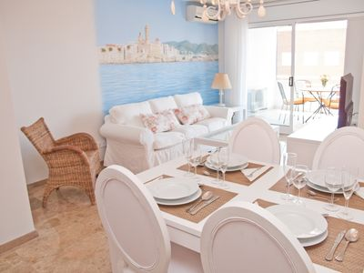 Photo for DELICIOUS Elegant apartment with pool in Sitges.