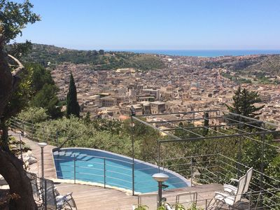"""Photo for """"Villa dell 'Acanto"""" with town-sea view. Infinity pool with heating system."""