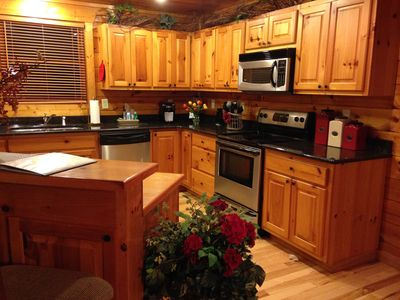 Photo for 3 Bed 3 1/2 Bath All Wood Cabin On Craftloop In Sevierville, TN