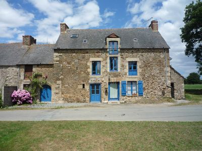 Photo for Typical large Breton cottage in tranquil countryside, nr sandy beaches