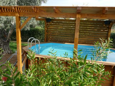 Photo for Home with small pool, 37 km from Athens, easily accessible by public transport