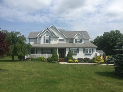 Photo for Poconos Mountain Home with Hot Tub and Game Room