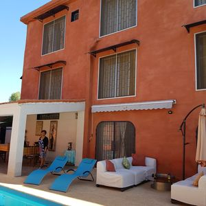 Photo for At Somone Four Bed and Breakfast with sea view 100 m from the beach quiet pool