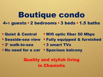 Photo for Best condo in Chaniotis !