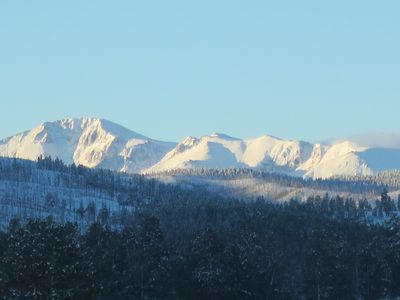 Photo for BELL ROCK RETREAT: PRIVATE 80 ACRES PANORAMIC VIEW OF PIKES PEAK, BABBLING CREEK