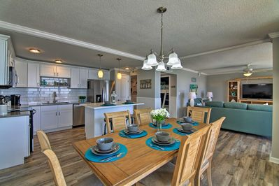 Enjoy your family meals at the 4-person dining table.