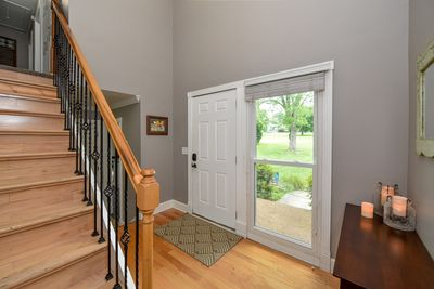 Elegant Entry, all living areas down and all sleeping quarters up!